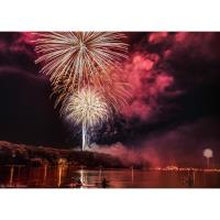 Fireworks Display Over Lake Wallenpaupack