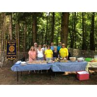 At Your Service!    Honesdale Rotary Serves Lunch to Dyberry Campers