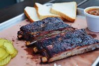 Slow smoked spare ribs, otherwise known as heaven on a bone!
