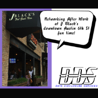 Networking after work downtown 6th Street at J Blacks