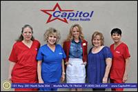 Some our amazing Capitol Home Health ladies visiting our Marble Falls office!