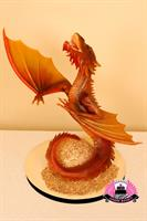 The Desolation of Smaug--chocolate sculpture with gold coins as cake