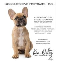 Grand Opening Kim Ortiz Dog Portraits at the Hill Country Galleria