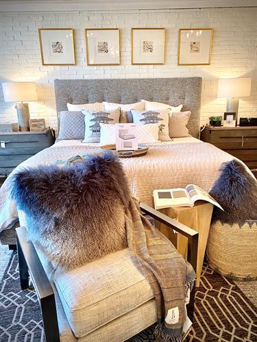 Showroom images - Upholstered custom bed