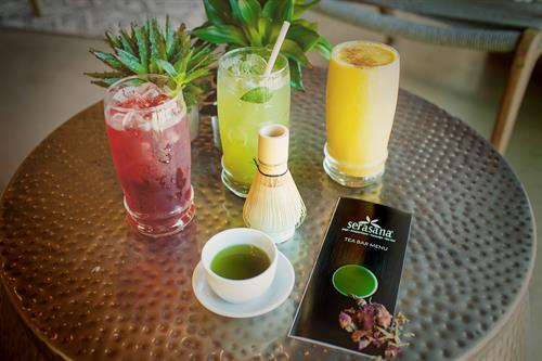 Cool, refreshing tea drinks await you.