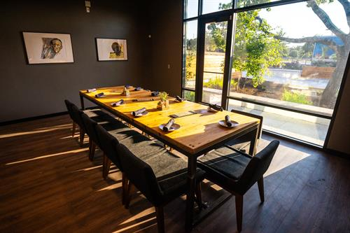 "One of our two semi-private dining rooms.  This is ""The Gallery"" and has a seating capacity of 24 guests."
