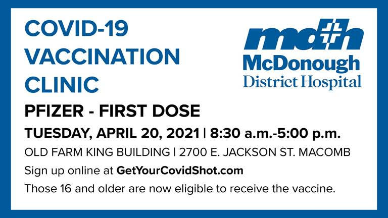 Image for Walk-in Vaccination Clinic Available Today (April 20)