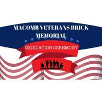 Macomb Veterans Brick Memorial Dedication Ceremony