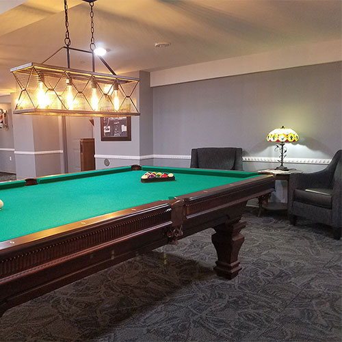Regulation billiards table