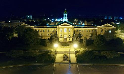 Sherman Hall by Night