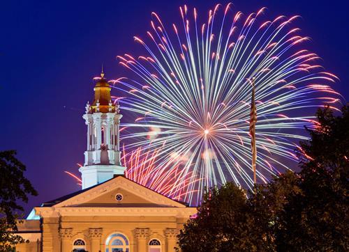 Fireworks Over Sherman