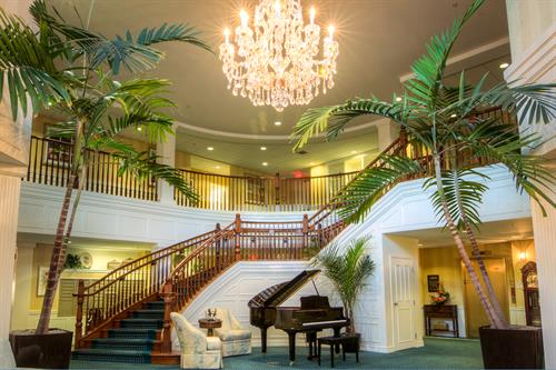 Welcoming lobby entrance