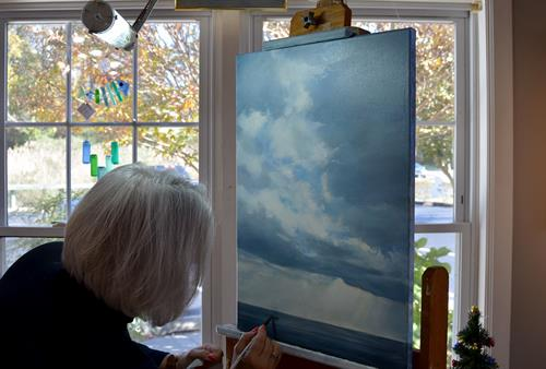 Ellen painting Calm Before the Storm https://www.ellenrice.gallery/new--available-originals.html