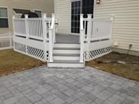 Gray Composite Deck with White Vinyl Rail