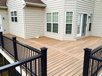 Fiberon IPE Deck with Black Composite Rail