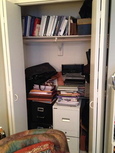BEFORE-Home office closet