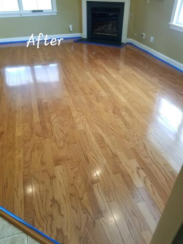 After Wood Floor Cleaning & Polishing