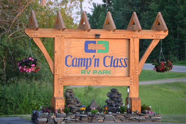 Camp 'n Class RV Park sign