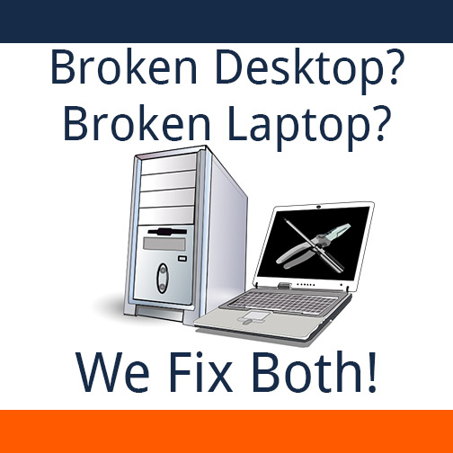 Broken Desktop? Broken Laptop? At TRINUS Computer Centre we fix both!