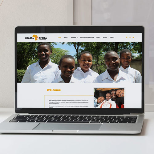 Website Design for The Heart of Africa Foundation