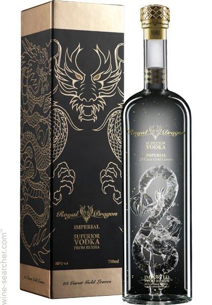 Royal Dragon 22K Gold Leaf Vodka in Lighted Display box
