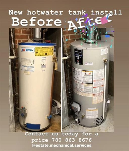 New hot water tanks
