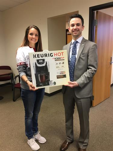 Keurig Coffee Maker donated to Washington High School