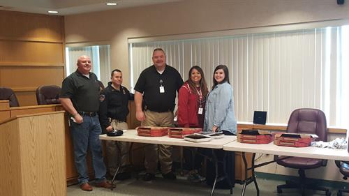 Providing Pizza to the Purcell Police Department