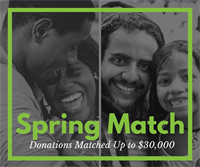 Spring Match: March-April Your Gifts are Doubled!