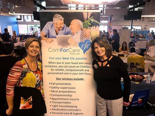 Cheryl Fox and Cindy Gray at Jewish Paviliion