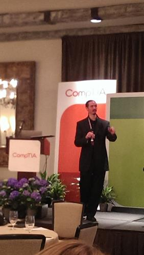 Speaking at the CompTIA Annual Meeting; San Diego, CA