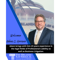 The Orlando Law Group Adds Attorney Adam C. Herman To The Team!