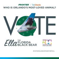 Central Florida Zoo's Black Bear Could Appear  On Frontier Airlines Aircraft