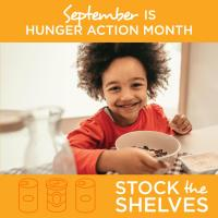 """Second Harvest Asks Supporters To Help """"Stock The Shelves"""" For Hunger Action Month In Sept."""