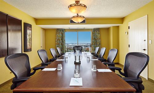 Confernce Room ~ A Boardroom Table that seats up to 14, half bath and Living Room entrance into the conference room itself.