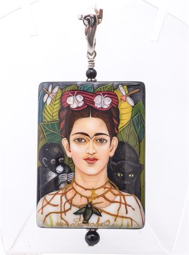 Frida Kahlo Pendant at Edmonds Sterling Silver