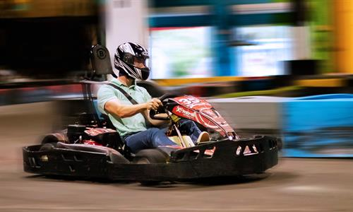 The fastest indoor go kart track perfect for Corporate Team Building!