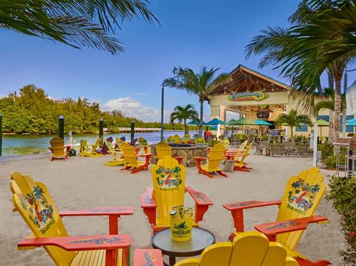 5 o'Clock Somewhere Bar and Grill. Located directly across the street from Margaritaville Hollywood Beach Resort, this location overlooks the Intracoastal Waterway, features a usable dock, daily kayak and paddleboard rentals and tours, and offers weekly entertainment when in standard operations