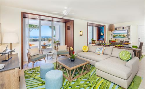 A 2 bedroom suite within the resort. One of more than 15 separate types of guest rooms and suites within the resort.