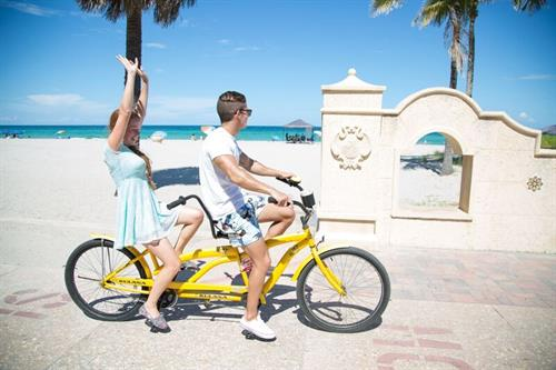 Bikes on Hollywood Beach
