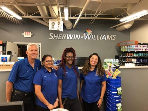 Meet our staff! Left to Right: Russ, Crystine, Braneisha, Brittny