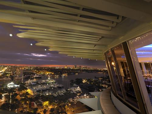 View from Pier Top @ Pier Sixty-Six Hotel & Marina, a vibrant luxury hotel in Fort Lauderdale