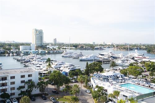 Views of the Marina and Rooftop Pool