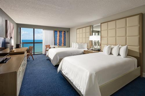 Ocean Front View Room with Double Beds
