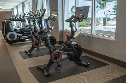 Fitness Center overlooking the Ocean with Pelaton