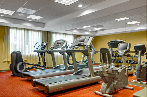 StayFit™ Gym with Life Fitness® cardio equipment and free weights