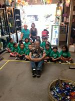 St Raphael's Kids visiting the Shop
