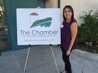 Mayra at SB Chamber breakfast at the SB Zoo
