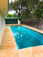 Backyard Pool from Sideyard