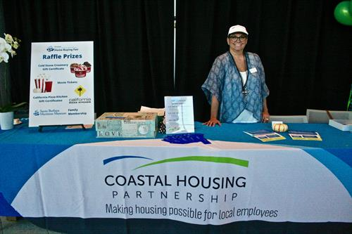 Julia, manning our Coastal Housing table at our Home Buying Fair